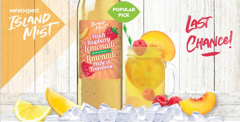 Island Mist Peach Raspberry Lemonade